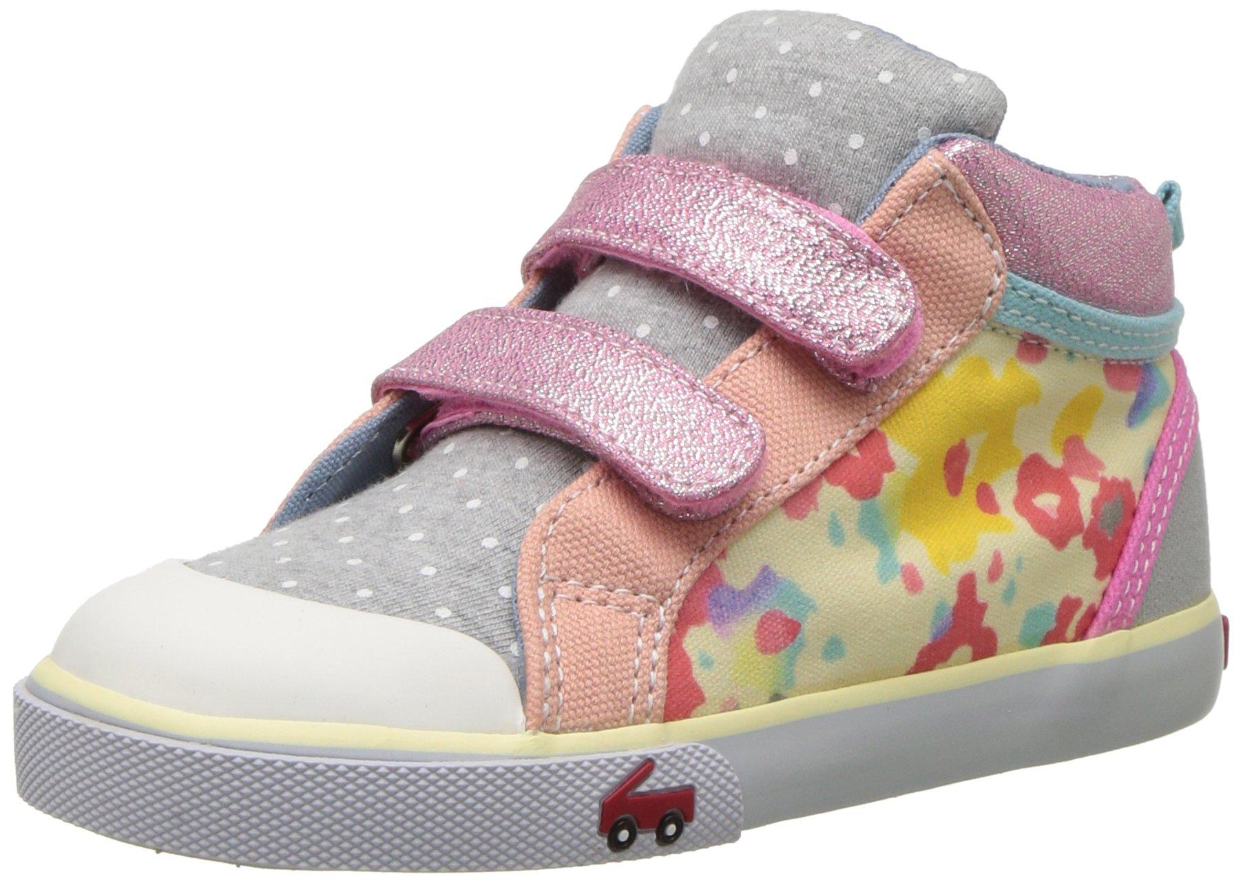 See Kai Run Girls' Kya Sneaker Multi Jersey Mix 10.5 M US Little Kid