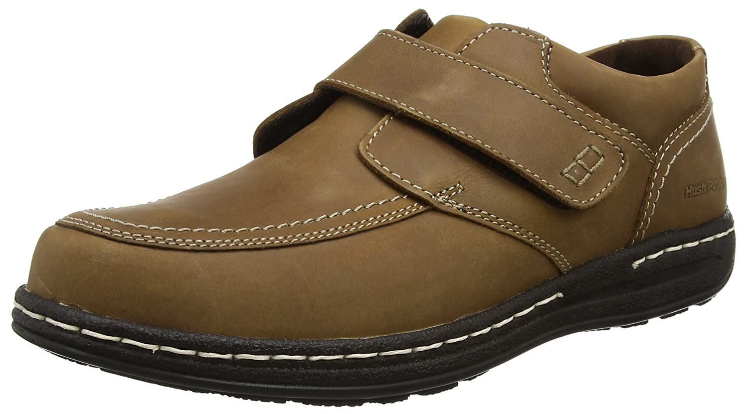 Hush Puppies Vince Victory, Mocasines para Hombre 45 EU|Marrón (Dark Tan)