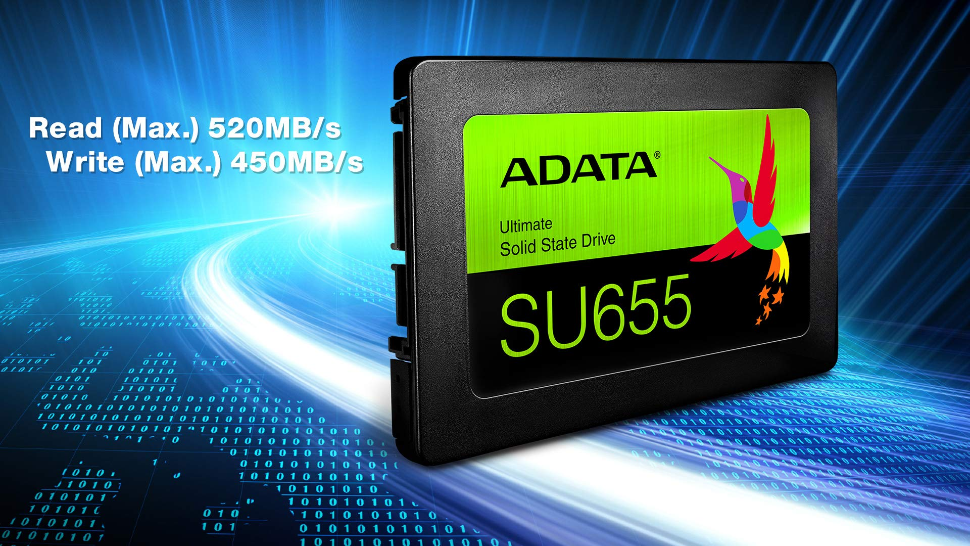 ADATA SU655 960GB 3D NAND 2.5 Inch SATA III High Speed Read Up to 520MB/S Internal SSD (ASU655SS-960GT-C) by ADATA (Image #5)