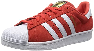 Adidas Originals SUPERSTAR SUEDE Chaussures Mode Sneakers Unisex Cuir Suede Rouge