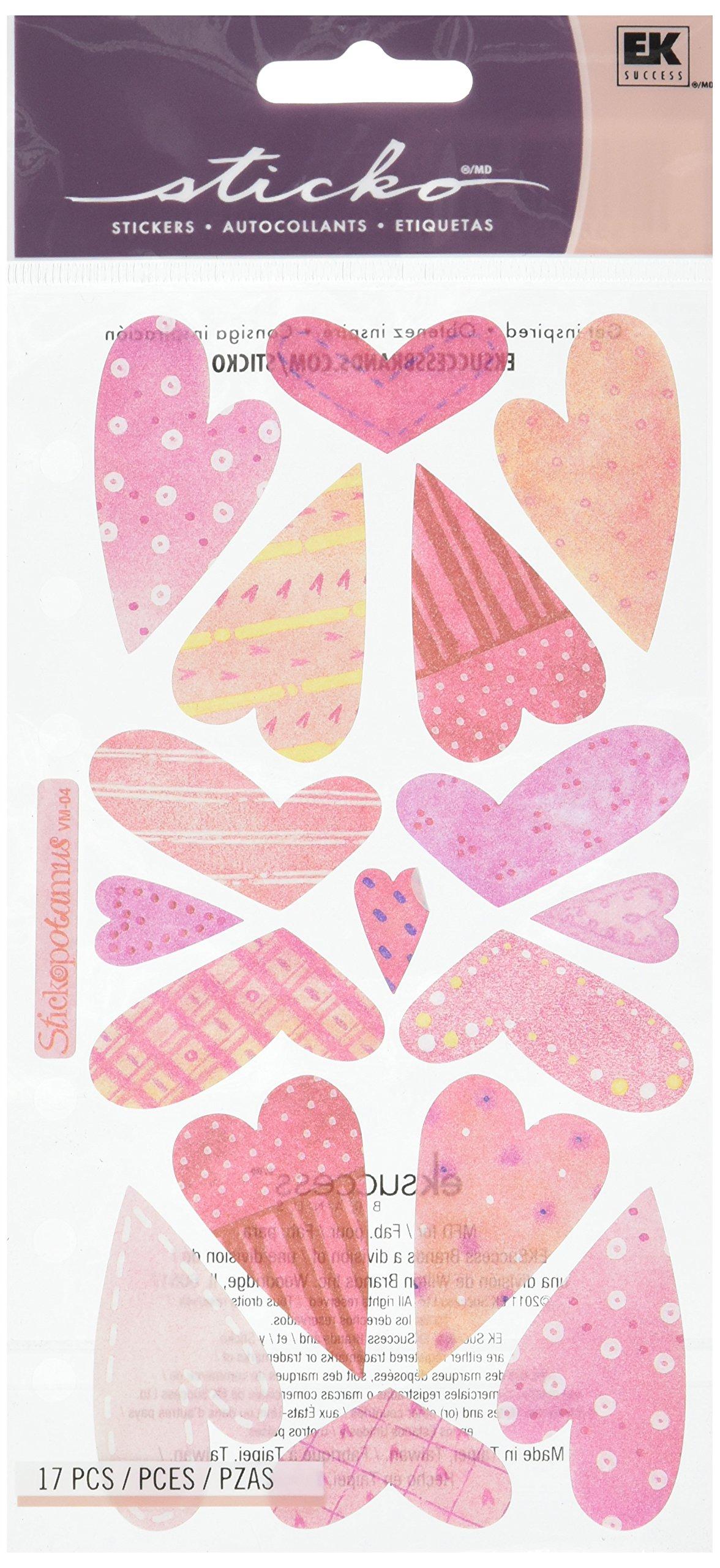 Sticko Vellum Stickers-Sweethearts