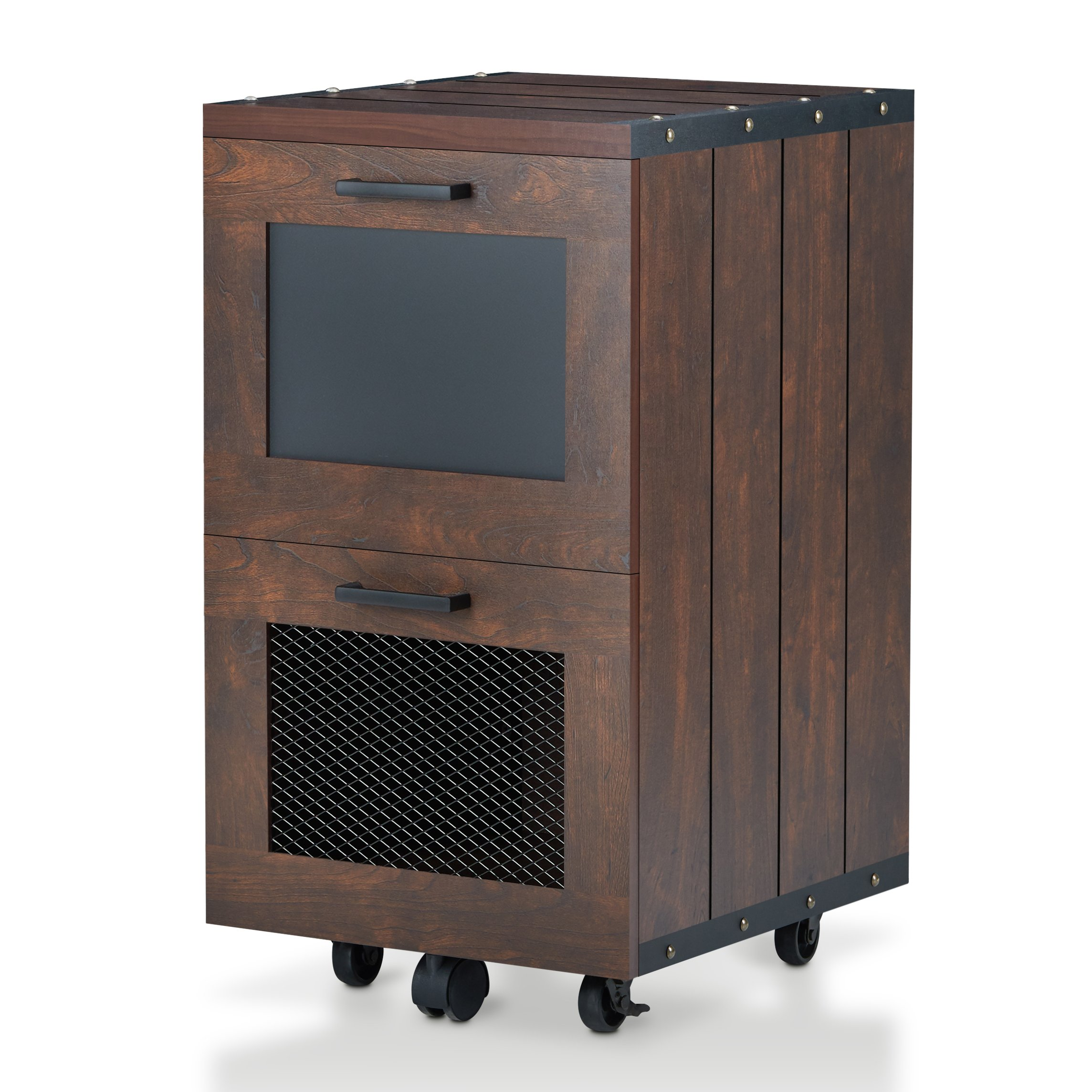 24/7 Shop at Home Olivia File Cabinet, One size, Vintage Walnut by 24/7 Shop at Home