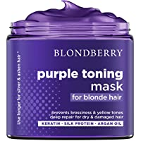 Purple Hair Mask for Silver & Platinum Hues - Advanced Purple Pigment with Keratin...