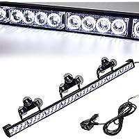 شريط اضاءة ترافيك ادفيزور 35.5 انش بعدد 13 نمط للاضاءة، شريط اضاءة للطوارئ مكون من 32 مصباح ليد وامض للتحذير، مصابيح…