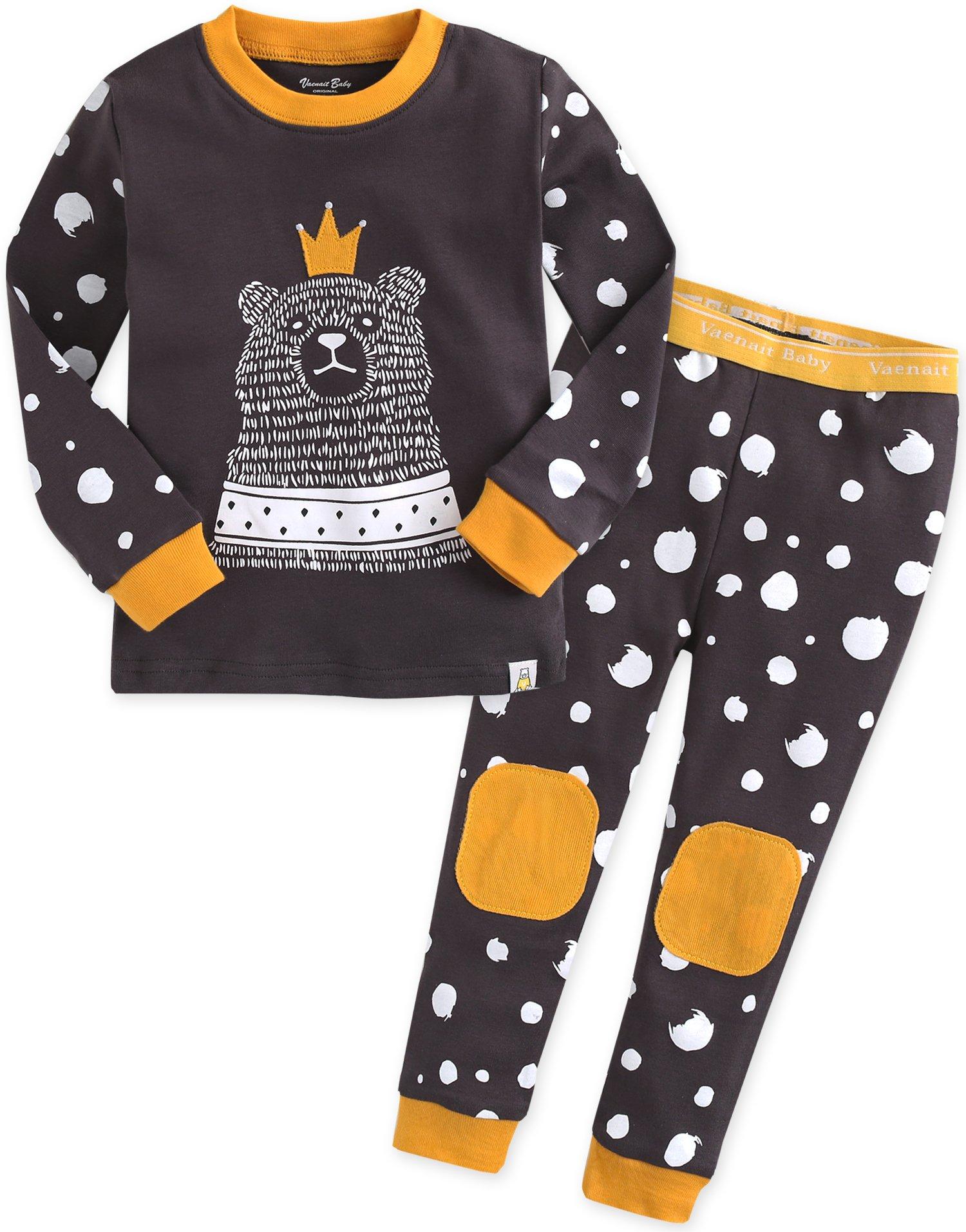 Vaenait baby 12M-7T Kids Boys Sleepwear Pajama 2pcs Set The Love Bear XS
