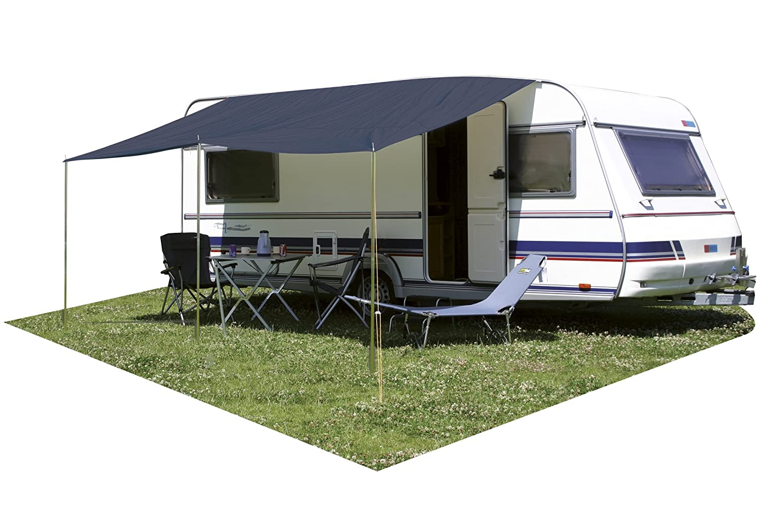 Eurotrail Universal Sunroof Basic Canopy For Caravan 300x240cm Blue Amazoncouk Sports Outdoors