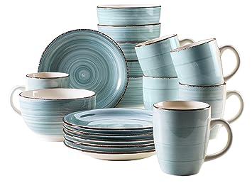 Aus Was Besteht Keramik mäser serie bel tempo frühstücksset 18 teilig keramik geschirr für