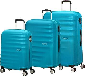 American Tourister 74137/2302 WaveBreaker Juego de 3 Maletas, 96 litros, Color Azul: Amazon.es: Equipaje