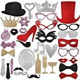 PBPBOX Flash Photo Booth Props for Wedding Birthday Party - 36 PCS