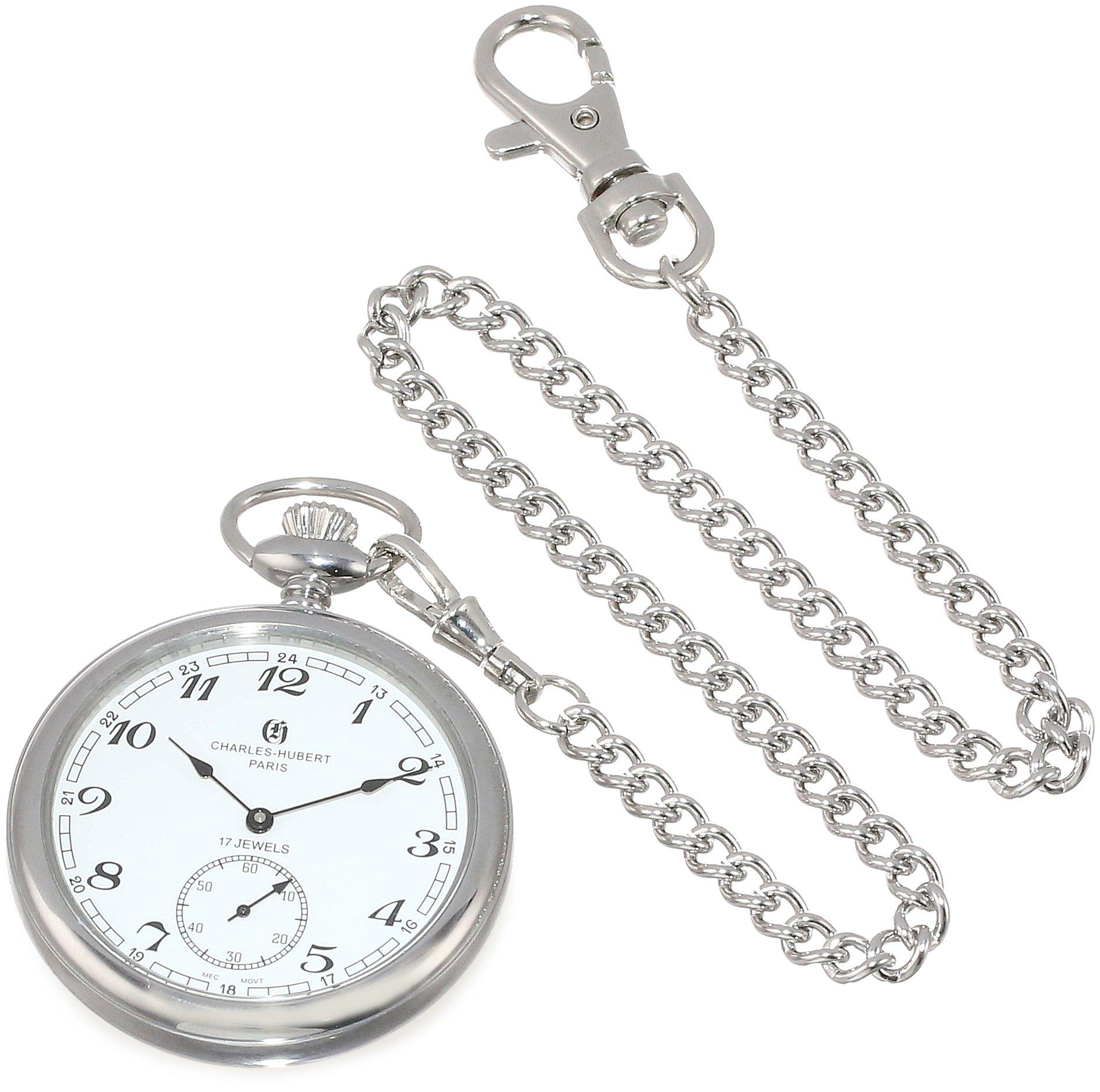 Charles-Hubert, Paris Open Face Mechanical Pocket Watch