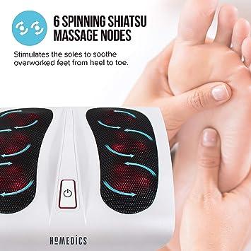 HoMedics FM-TS9-2EU - Masajeador de pie Shiatsu con calor: Amazon ...