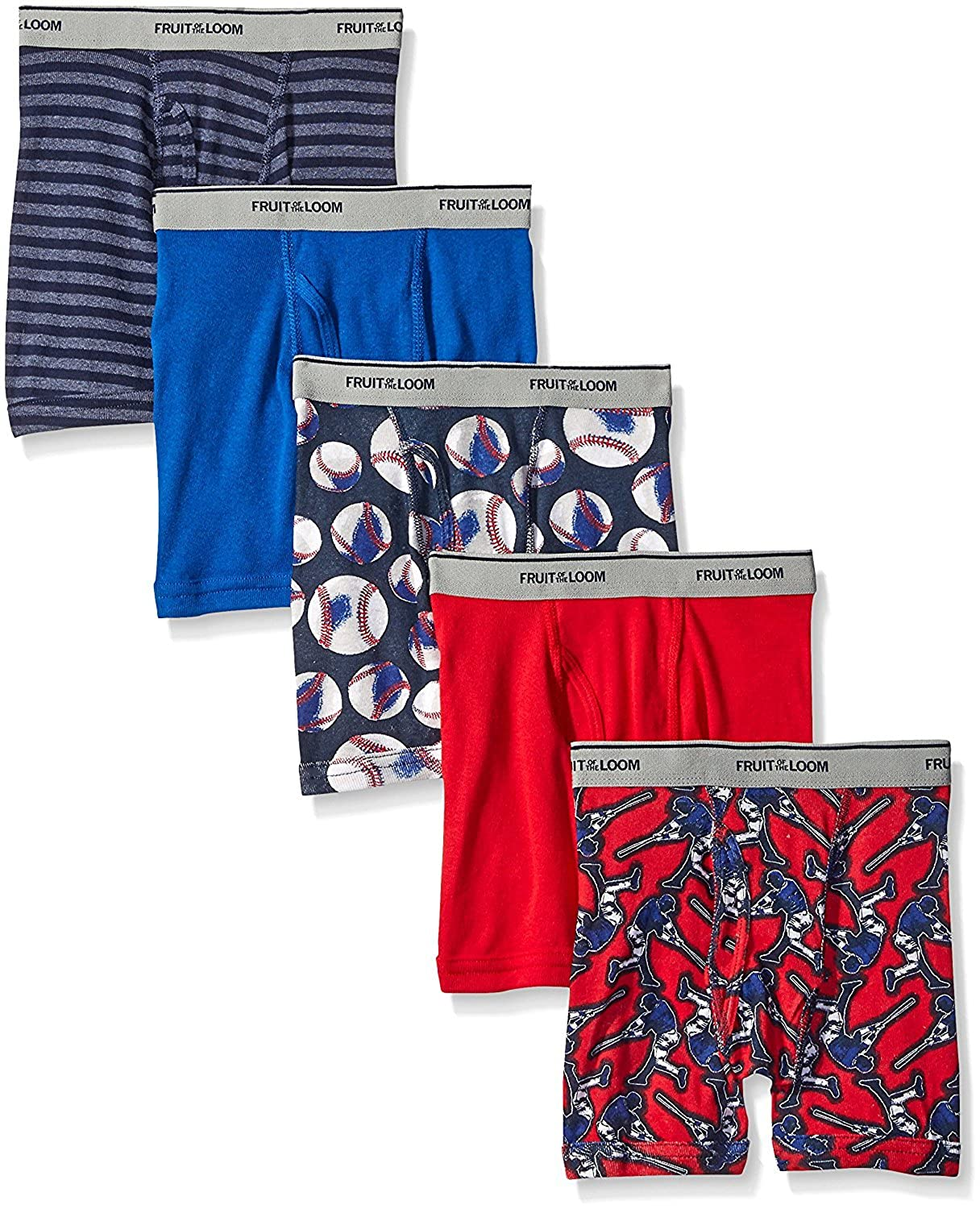 28-33 lbs // 21 Waist Fruit of the Loom Boys Boxer Brief Multi, 2T//3T Exposed and Covered Waistband