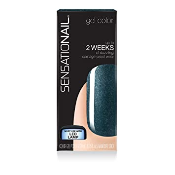 amazon com sensationail color gel polish ocean sparkle 25 fl oz by