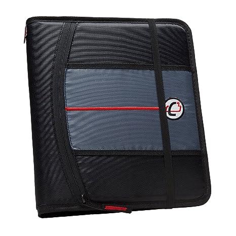amazon com case it 1 inch 3 ring binder 5 tab 6 pocket black