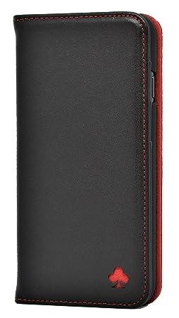 Porter Riley - Lederhülle für iPhone 6/6s Plus. Premium Echtleder Standhülle/Cover/Brieftasche kompatibel mit iPhone 6/6s Plu
