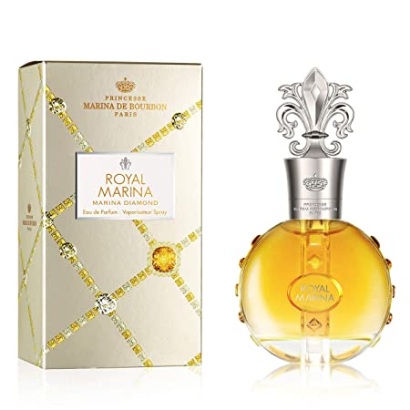 Royal Marina Diamond by Princesse Marina de Bourbon Eau de Parfum Spray Fragrance for Women Fruity, Oriental, and Musky Scent with Notes of Vanilla and Tonka Bean 100 mL 3.4 fl oz