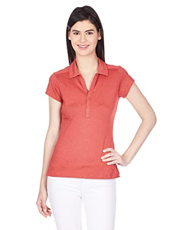 bf5150d49963 Columbia Damen Poloshirt Shadow Time Polo, Red Hibiscus, XS, AL6940