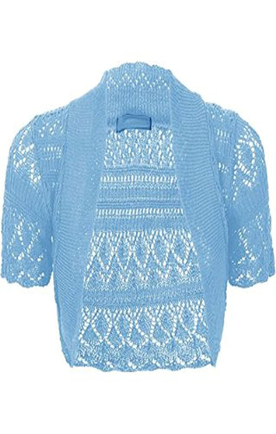 MyMixTrendz - Womens Crochet Knit Midi Sleeve Bolero Shrug at ...