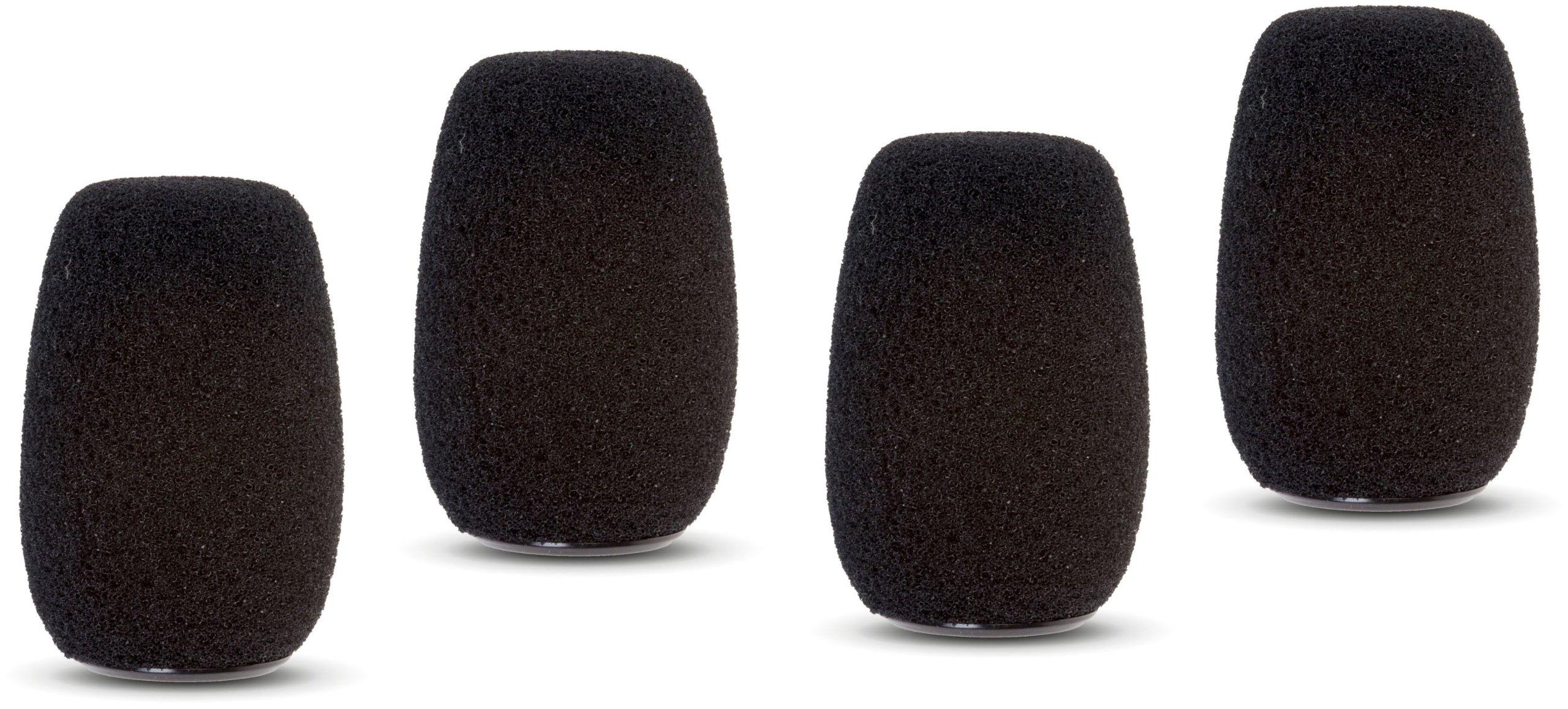 Shure ACVG4WS-B Black Foam Windscreen for Centraverse Gooseneck Condenser Microphones (Contains Four)