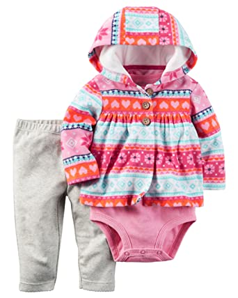 Baby Clothing Sets 6 Months Carter's Baby Girls Cardigan Sets, Pink, 18M