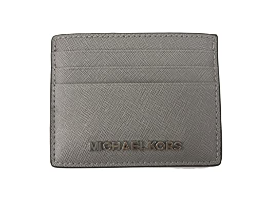 ec9fdf59661a Image Unavailable. Image not available for. Color: Michael Kors Jet Set  Travel Leather Credit Card Holder ...