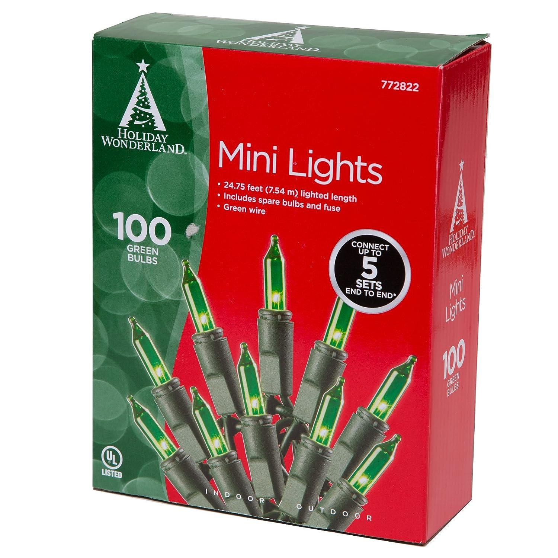 100 Count Green Christmas Light Set