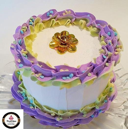 Dezicakes Soporte reutilizable para tarta de cumpleaños con ...
