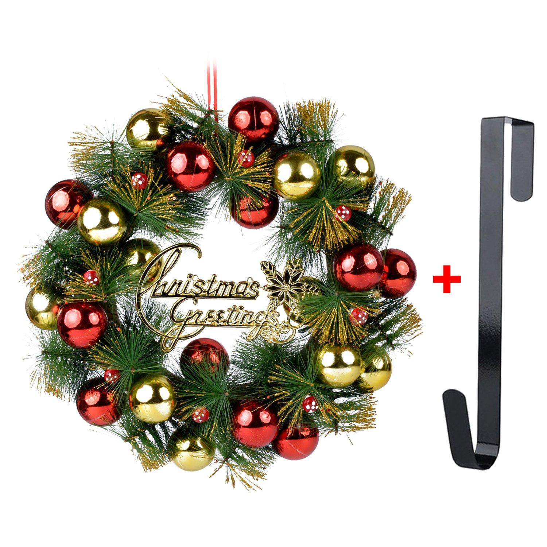 Corona de Navidad, Guirnalda de la Puerta de 16 Campanas de Pino Artificial