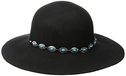 Buy San Diego Hat Company Women s Round-Crown Floppy Hat with Silver ... 71f0782a8a3