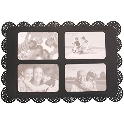 Amazon Photo Place Mat New Funky Black Plastic With 4 Photo