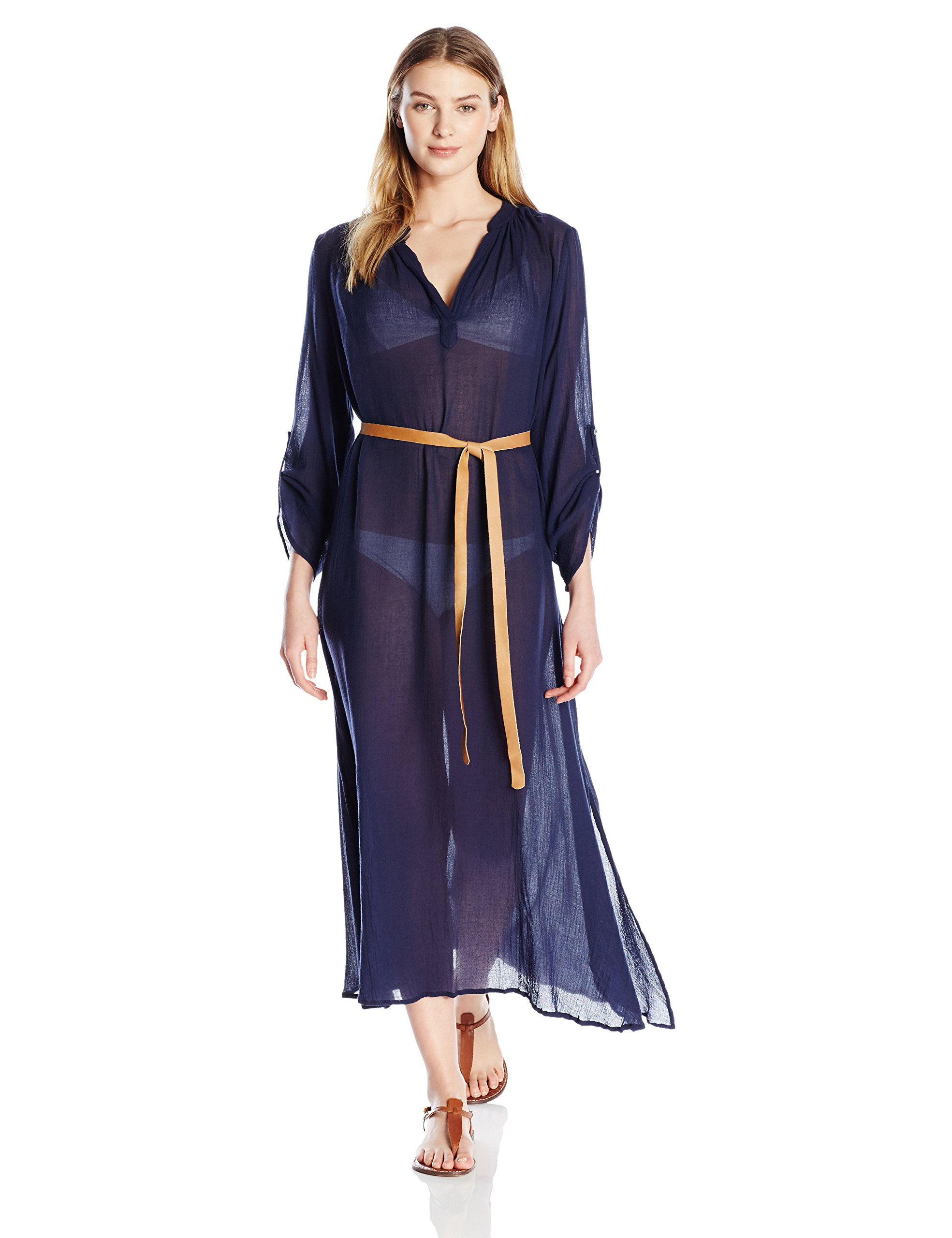 Eberjey Women's Summer of Love Haven Cover up, Deep Blue, S/M