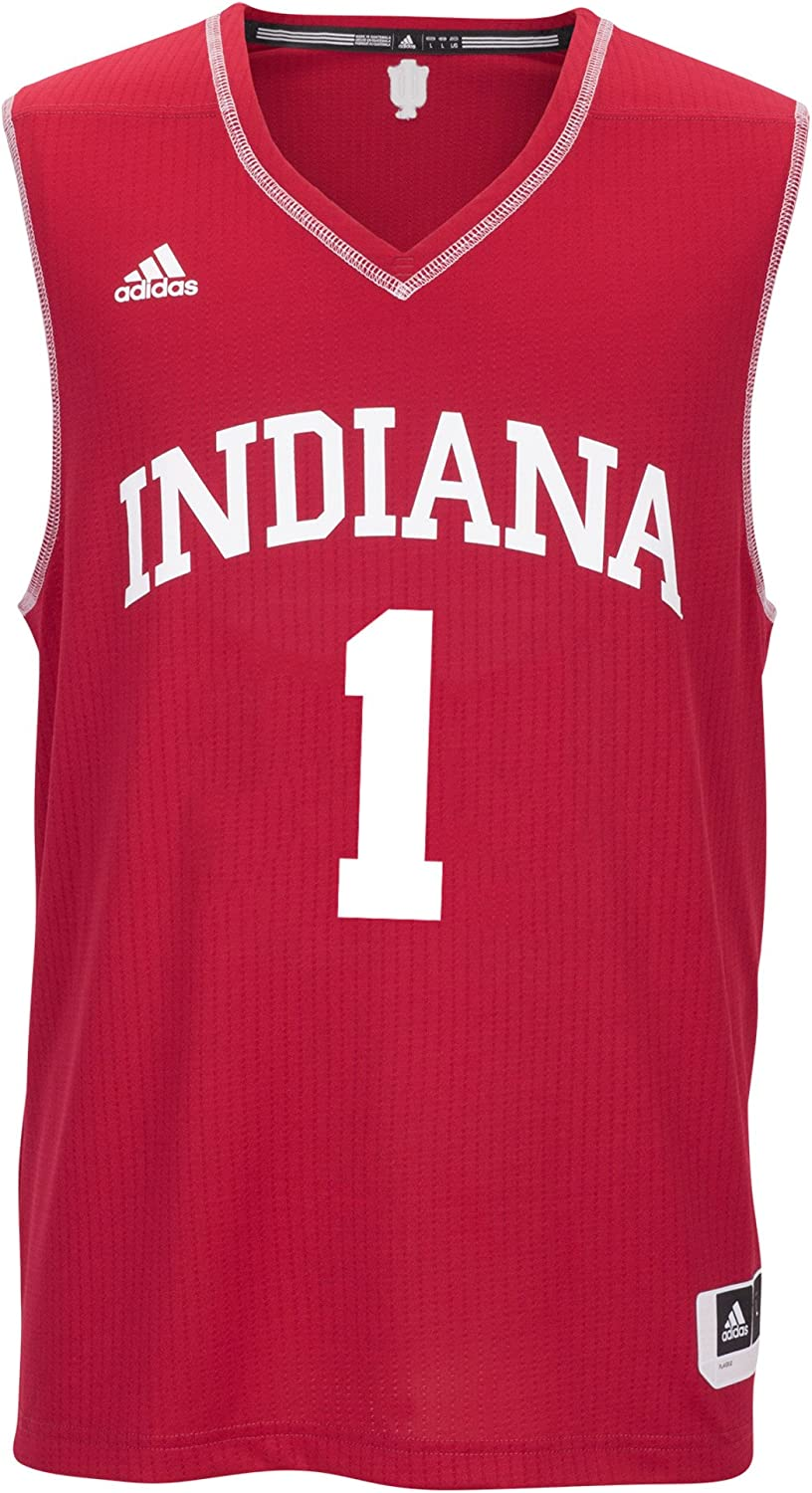 Red NCAA Indiana Hoosiers Mens Replica Jersey 4X-Large