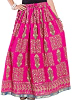 Decot Women's Cotton Skirt (SKT334__Multi Colour_Free Size)