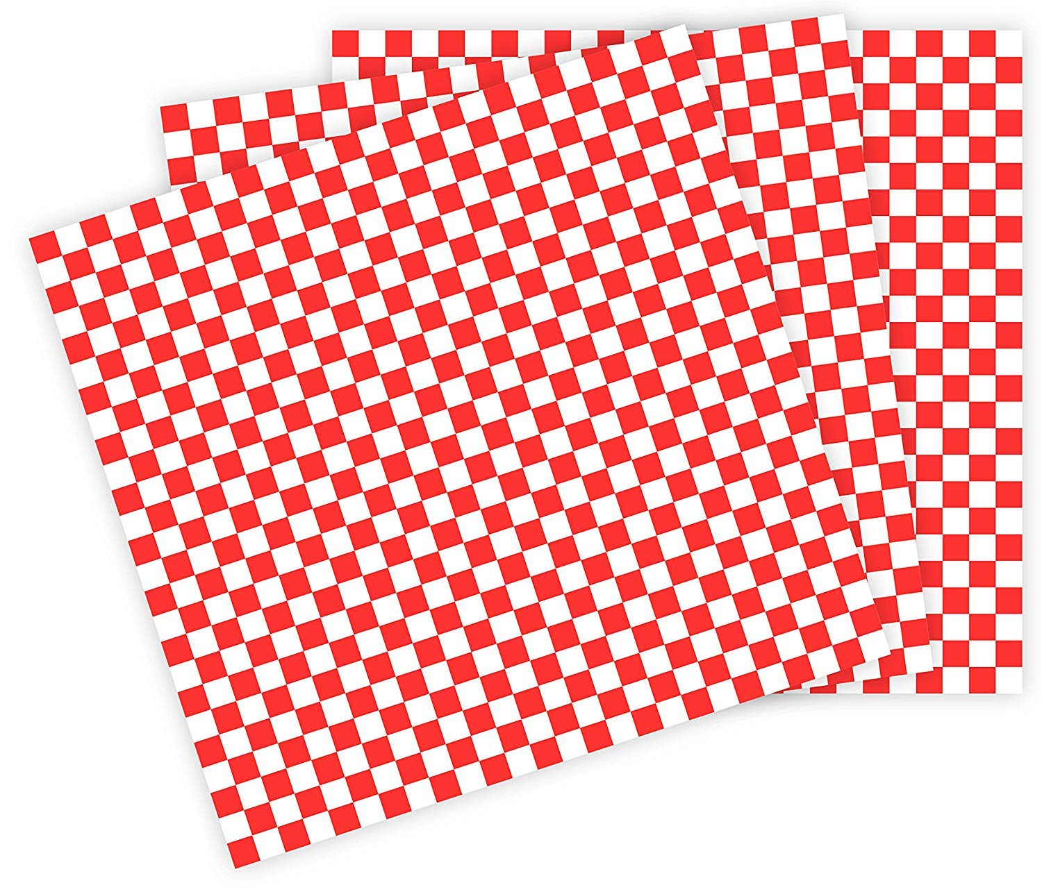 Deli Sandwich Wraps Red & White Checkered Food Wrapping Papers Basket Liners Red Check 12