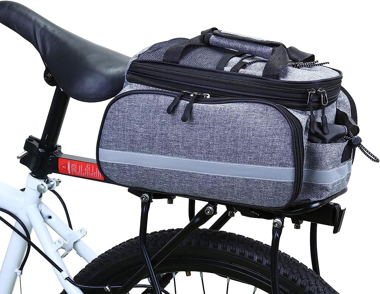 UK RockBros Bike Rear Carrier Bag Rear Pack Trunk Pannier Saddle Bag Pouch