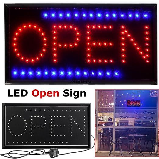 splinktech® abierto señal LED ventana de la tienda pantalla ...