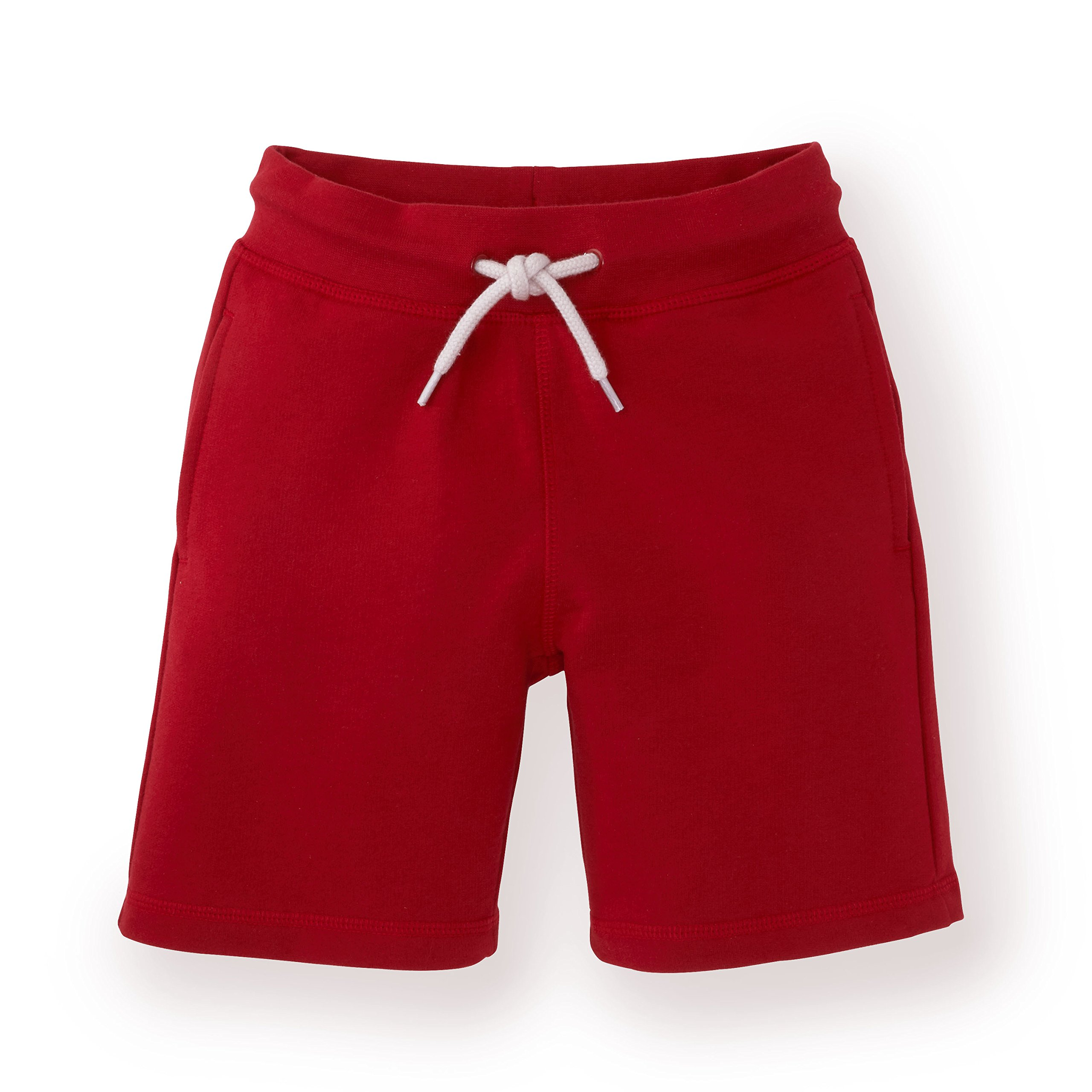 Hope & Henry Boys' Red Pull-on French Terry Shorts Made with Organic Cotton