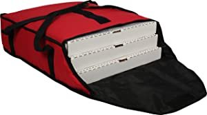 """San Jamar PB20-6 Commercial Insulated Pizza/Food Delivery Bag, 6"""" H x 18"""" W x 20"""" D Red"""