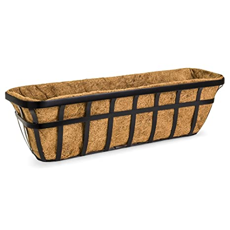 Best Choice Products 30in Hanging Metal Garden Trough Planter Basket For  Window, Fence W/