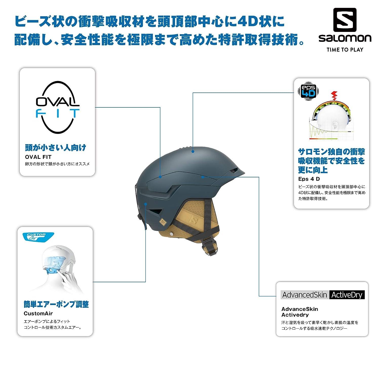 Quest Salomon Casco da Sci e da Snowboard per Uomo Imbottitura Interna in EPS 4D Custom Air