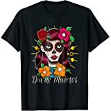 La Catrina Dia de Muertos Camiseta Day Of The Dead T Shirt