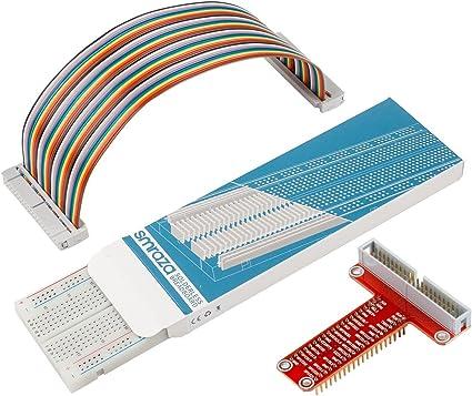 Breadboard 65 Jumper Câble Pour Raspberry Pi T GPIO Carte d/'extension GPIO Câble
