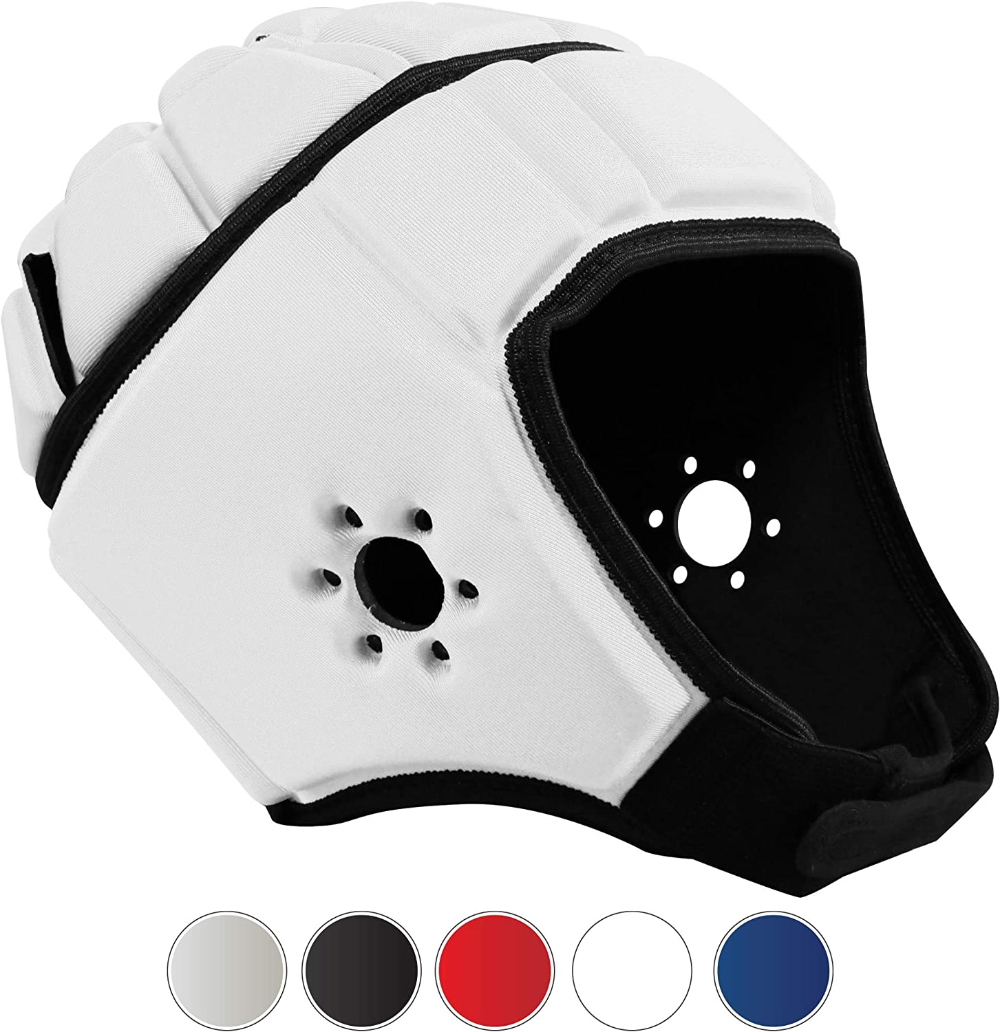EliteTek Soft Padded Headgear - 7v7 Soft Shell - Rugby - Flag Football Helmet - Soccer Goalie & Epilepsy Head Fall Protection - Youth & Adult Sizing