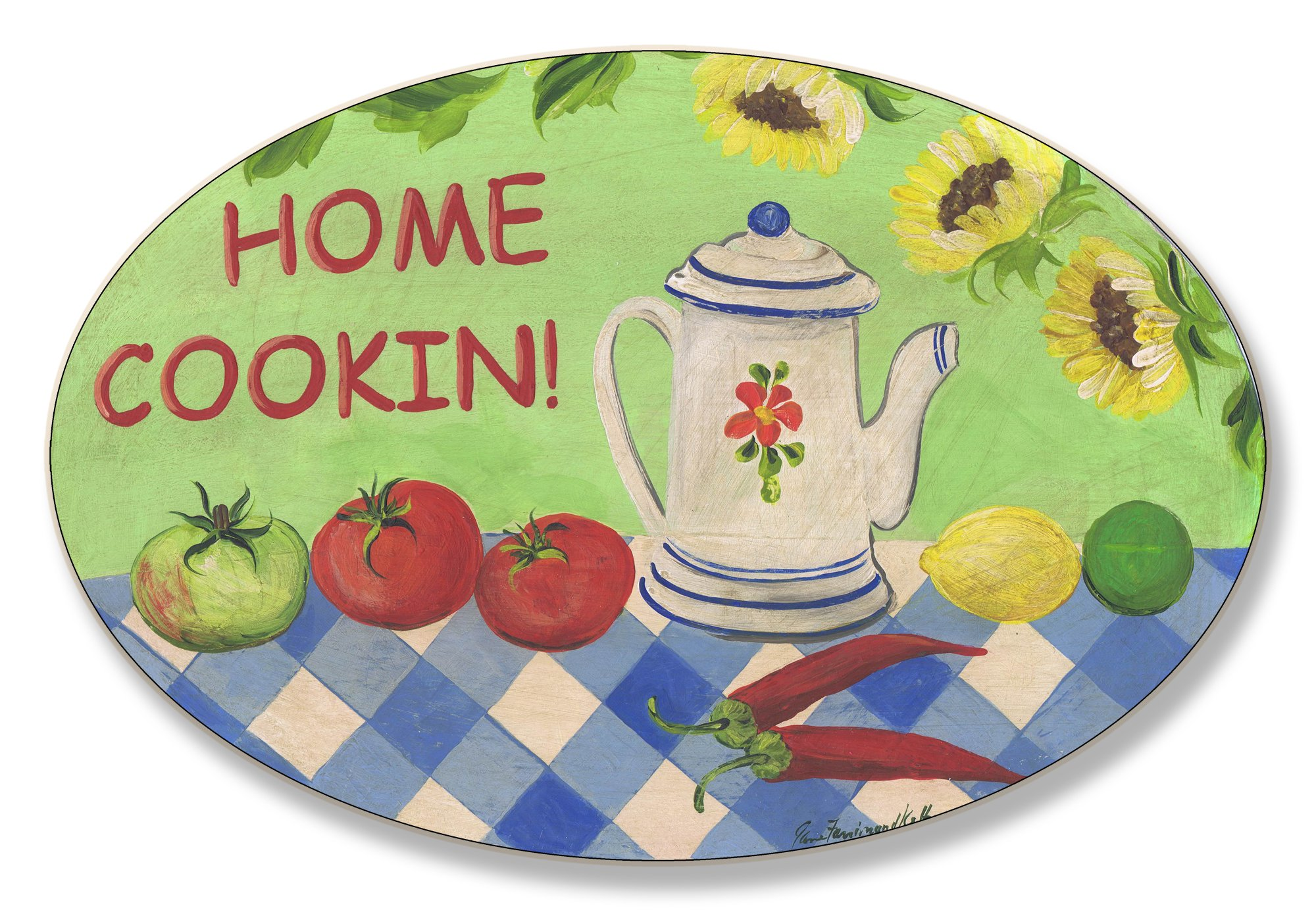 Stupell Home Décor Home Cooking Oval Kitchen Wall