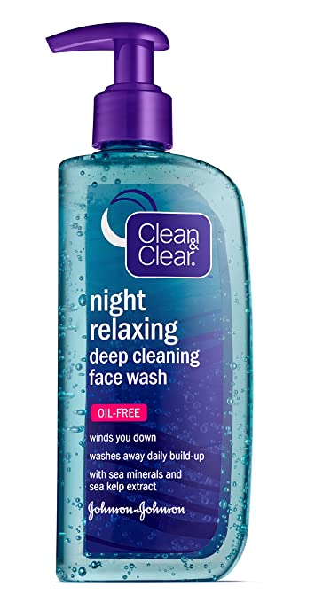 Clean & Clear Night Relaxing Oil-Free Deep Cleaning Face Wash 1 fl. oz Kose Emulsion 4.7 oz (500004)