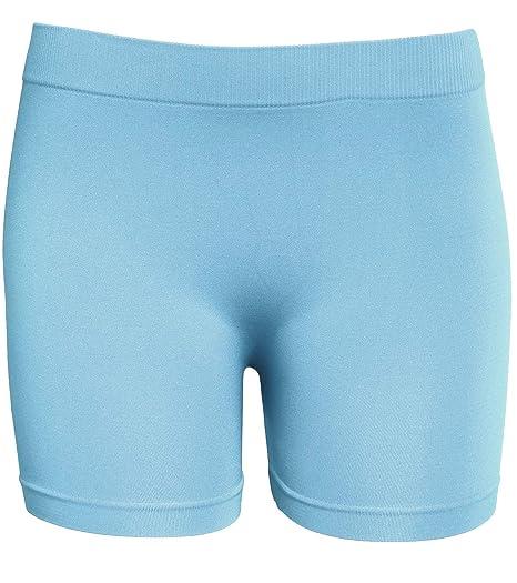 b220ce380fe8 KMystic Women's Workout Seamless Biker Bermuda Boy Shorts (Ash Blue ...