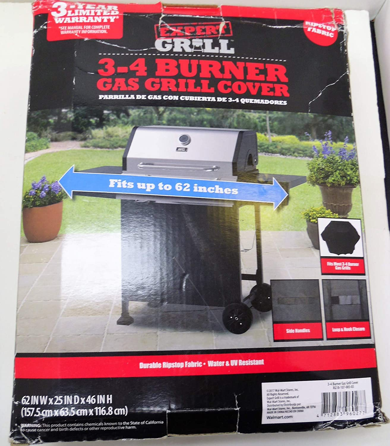 Amazon.com : Expert Grill 3-4 Burner Gas Grill Cover fits up ...