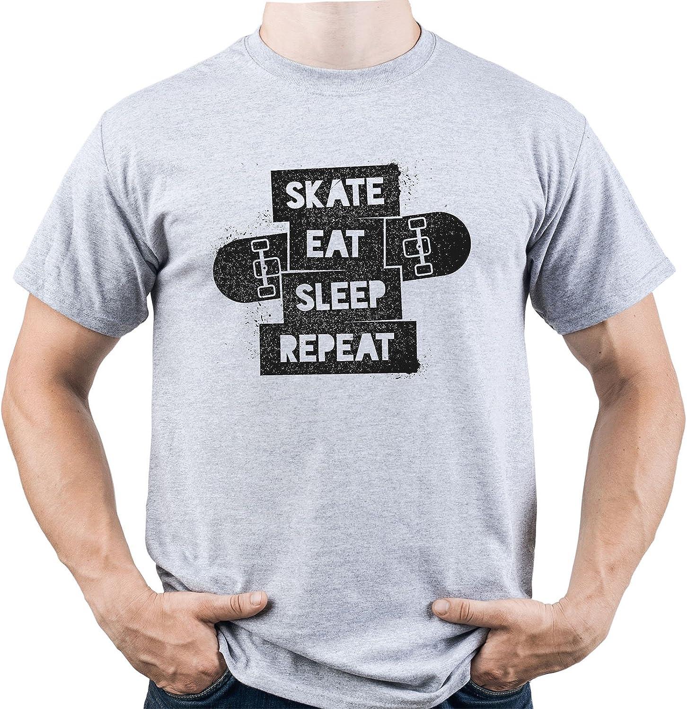 Skate Eat Sleep Repeat Shirt Skater Tshirt Skateboarding tee Gift for Skater Camiseta para Hombre: Amazon.es: Ropa y accesorios