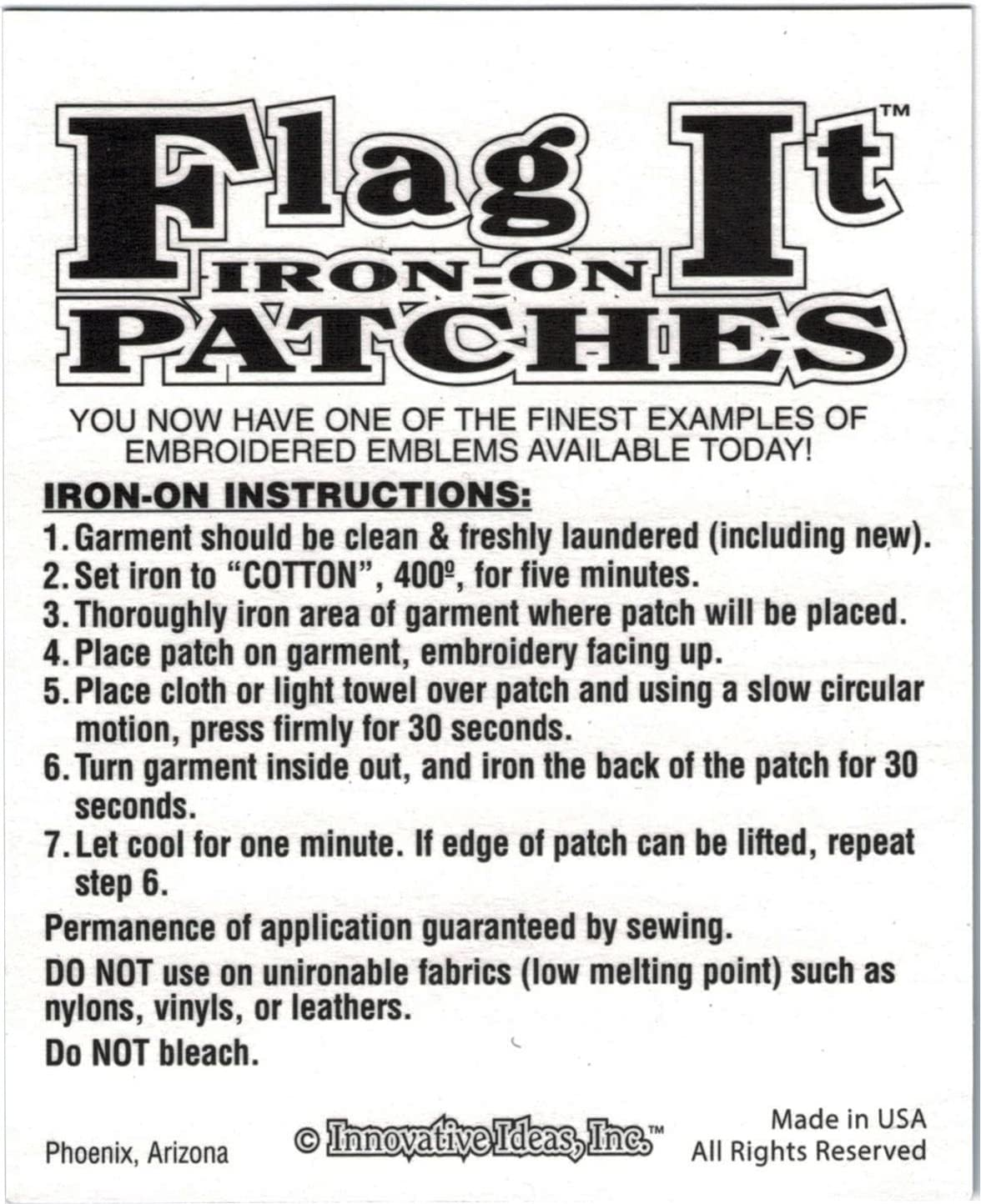 The Culpeper Patch parche 3.5 x 2.25 Inches Superior Quality Iron-On // Saw-On Embroidered Patch parche by: Flag-It The Most Trusted Brand Made in the USA Each Patch parche is carded /& packaged individually in a professional retail package