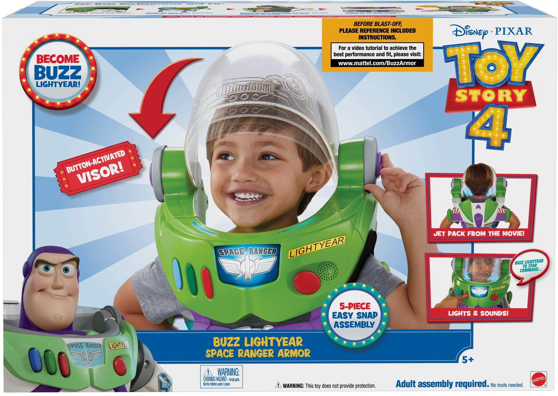 Toy Story Disney Pixar 4 Buzz Lightyear Space Ranger Armor with Jet Pack by Toy Story (Image #6)
